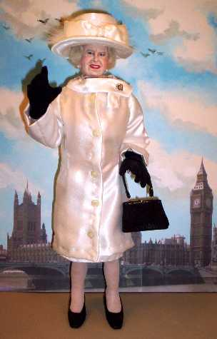 Queen Elizabeth II doll by Alesia