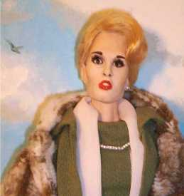 "Tippi Hedren doll in ""The Birds"""