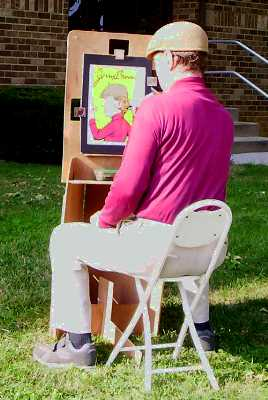 Breeneezil artist easel by Jerry Breen