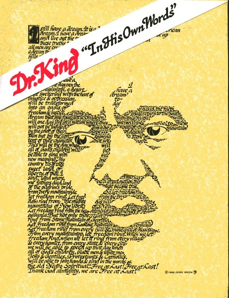 "Martin Luther King calligraphy portrait ""I Have a Dream"""