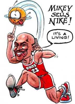 Michael Jordan caricature Jordan cartoon
