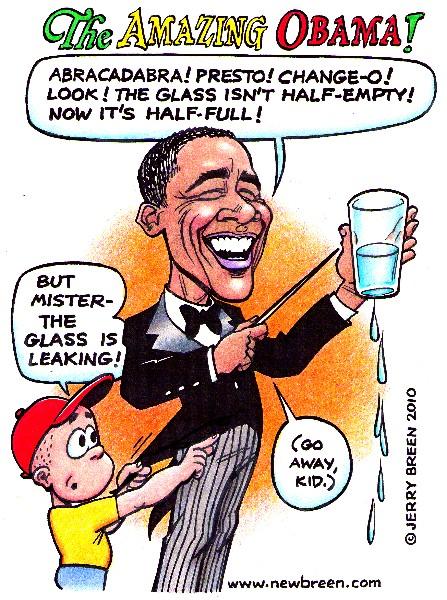 Obama cartoon Obama caricature Obamanomics recession unemployment political cartoon editorial cartoon politics humor satire