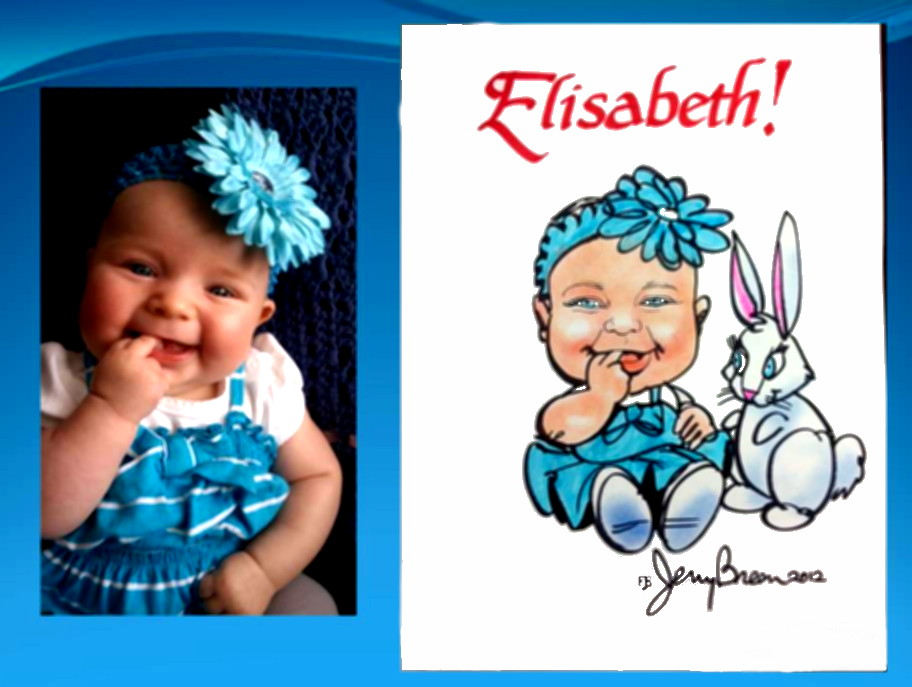 baby caricature gift caricature from photo