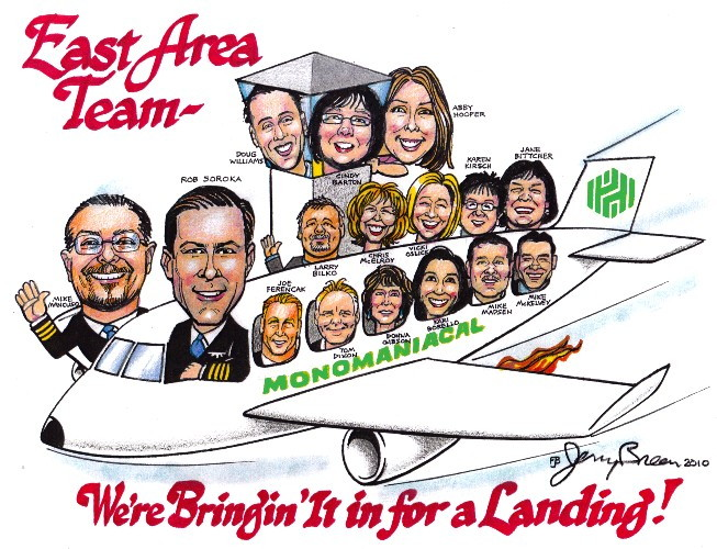 corporate cartoon gift caricature from photo
