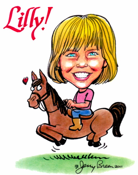 horse caricature horse cartoon gift caricature