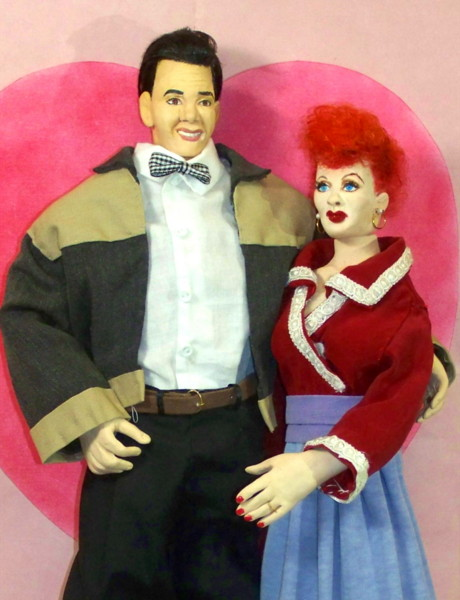 Lucy and Ricky Ricardo dolls handmade in America by Alesia